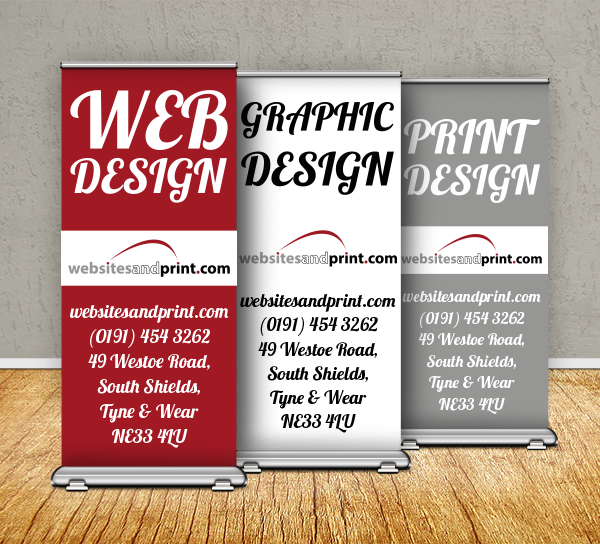 websites and print pop-up banners