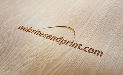 Engraved wood logo design