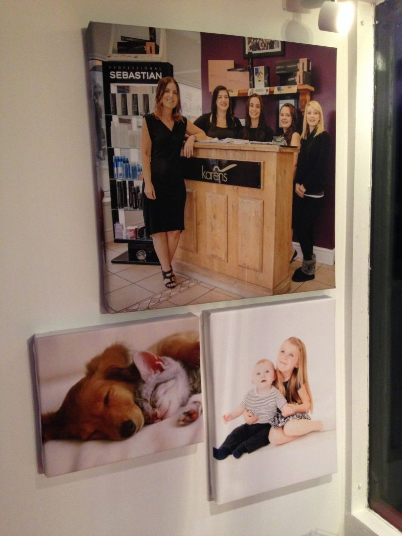 personalised canvases websites and print