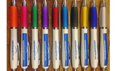 Websites and print personalised pens