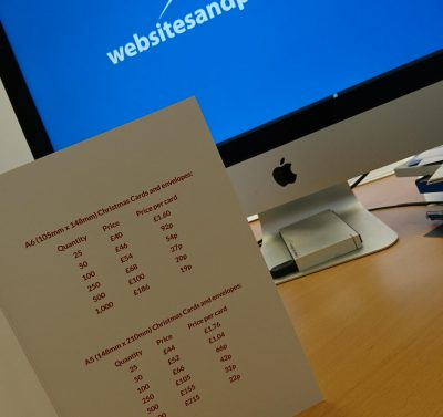 Websites and Print Greetings Card prices