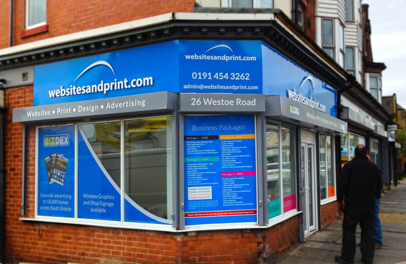websites and print shop front